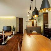 注文住宅 かっこいい工務店 岡山 アイム・コラボレーション アイムの家 施工例14 プライベートな裏庭のあるリビング、 コーディネーターと一緒につくる家 キッチン キッチンカウンター