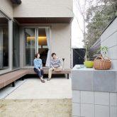 注文住宅 かっこいい工務店 岡山 アイム・コラボレーション アイムの家 施工例14 プライベートな裏庭のあるリビング、 コーディネーターと一緒につくる家 中庭