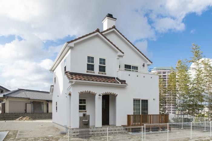 注文住宅 かっこいい工務店 福岡 不動産プラザ モデルハウス ガーデンシティ黒崎南 施工例13 プロヴァンス 外観