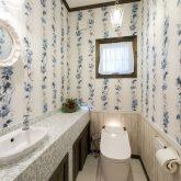 注文住宅 かっこいい工務店 福岡 不動産プラザ 施工例14 プロヴァンス トイレ