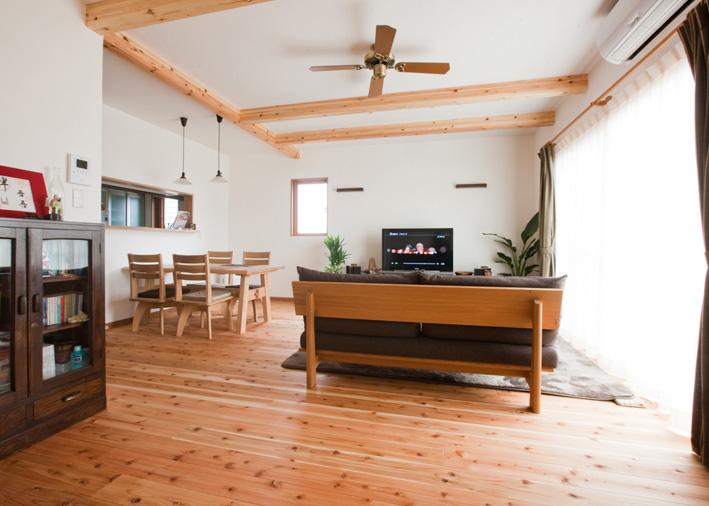 注文住宅 かっこいい工務店 岡山 アイム・コラボレーション アイムの家 施工例16 リビング&ダイニング
