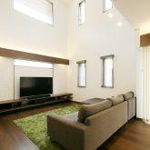 注文住宅 かっこいい工務店 岡山 アイム・コラボレーション アイムの家 施工例17 吹き抜け リビング