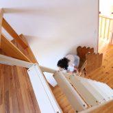 注文住宅 かっこいい工務店 鹿児島県 日置市 西郷建築 大工と創る家 施工例1 2階 子ども部屋 木製 ロフト 造作 滑り台