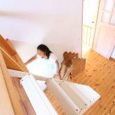 注文住宅 かっこいい工務店 鹿児島県 日置市 西郷建築 大工と創る家 施工例1 2階 子ども部屋 木製 ロフト 造作 滑り台 2
