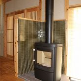 注文住宅 かっこいい工務店 宮城県 富樫工業 トガシホーム 施工例 55邸 和モダン 廊下 暖炉 2