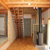 注文住宅 かっこいい工務店 宮城県 富樫工業 トガシホーム 施工例 55邸 和モダン 廊下 暖炉