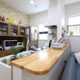 注文住宅 かっこいい工務店 東京 ジェイプラン 施工例 相模原市 セミオーダー アメリカン ナチュラル キッチン カウンター
