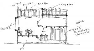 注文住宅 かっこいい工務店 京都府 福知山市 ADACHI住建 足立住建 商品 ほどよく自然体でかっこよく暮らす家 平面図 1F 立面図