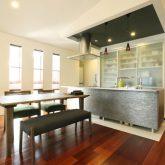 注文住宅 かっこいい工務店 岡山 アイム・コラボレーション アイムの家 施工例19 二世帯住宅 2階 子世帯 キッチン