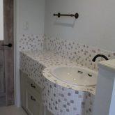 注文住宅 かっこいい工務店 宮城 富樫工業 施工例59 プロヴァンス トイレ タイル 洗面