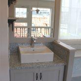 注文住宅 かっこいい工務店 宮城 富樫工業 施工例59 プロヴァンス 2階ホール 造作洗面