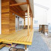 注文住宅 かっこいい工務店 山形県 山形市 福井建設 施工例18 全てがかっこ良いこだわりの家 ウッドデッキ