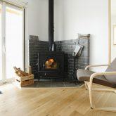 注文住宅 かっこいい工務店 山形県 山形市 福井建設 施工例18 全てがかっこ良いこだわりの家 LDK 暖炉