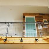 注文住宅 かっこいい工務店 山形県 山形市 福井建設 施工例18 全てがかっこ良いこだわりの家 吹き抜けから 2階 踊り場