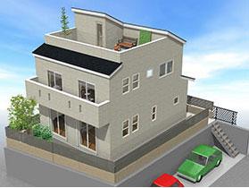 かっこいい工務店 東京都 町田市 ジェイプラン 分譲住宅 ラパレット 屋上