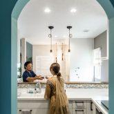 注文住宅 かっこいい工務店 熊本 ブレス ブレスホーム 施工例33 西海岸テイスト キッチン