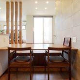 注文住宅 かっこいい工務店 岡山 アイム・コラボレーション アイムの家 施工例23 平屋のような佇まいの二世帯住宅 ダイニング