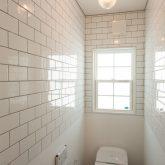 注文住宅 かっこいい工務店 山形県 山形市 福井建設 施工例21 平屋 サーフテイスト トイレ