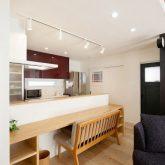注文住宅 かっこいい工務店 岡山 アイム・コラボレーション アイムの家 施工例24 オフィスやアクアリウムまで。機能性が高く、回遊性のある家 ダイニングカウンター キッチンカウンター