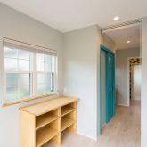 注文住宅 かっこいい工務店 山形県 福井建設 自由設計 南陽市 廊下 造作 収納スペース