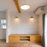 注文住宅 かっこいい工務店 山形県 福井建設 自由設計 南陽市 リビング 造作 テレビボード