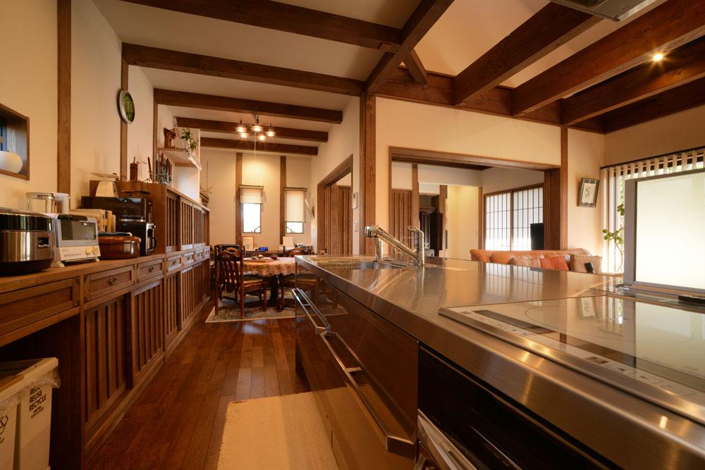 注文住宅 かっこいい工務店 熊本 ブレス ブレスホーム 施工例36 和風建築 平屋 モダン キッチン