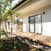 注文住宅 かっこいい工務店 熊本 ブレス ブレスホーム 施工例36 和風建築 平屋 モダン 軒先 庭