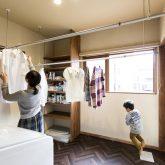 注文住宅 かっこいい工務店 隈本 ブレス ブレスホーム 施工例37 南区出仲間 洗濯物干し スペース