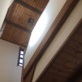 注文住宅 かっこいい工務店 三重県 桑名市 家作店 辰屋 新築 施工例2 木製 階段 無垢木材 天井