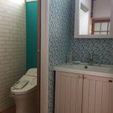 注文住宅 かっこいい工務店 三重県 桑名市 家作店 辰屋 新築 施工例1 トイレ 造作 洗面台