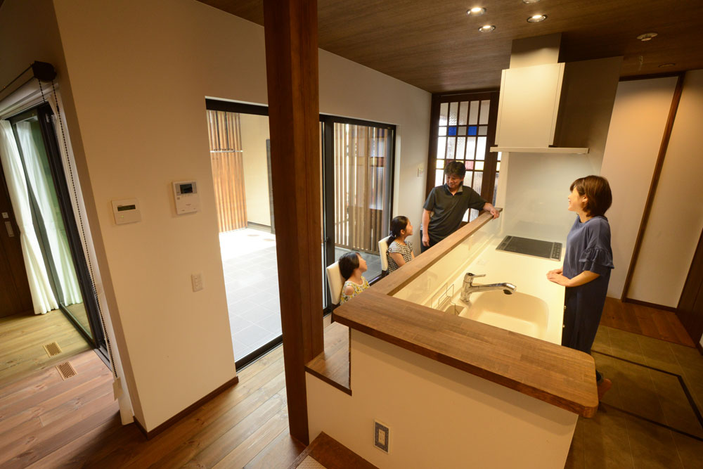 注文住宅 かっこいい工務店 熊本 ブレス ブレスホーム 施工例38 ナチュラルモダン キッチン&ダイニング