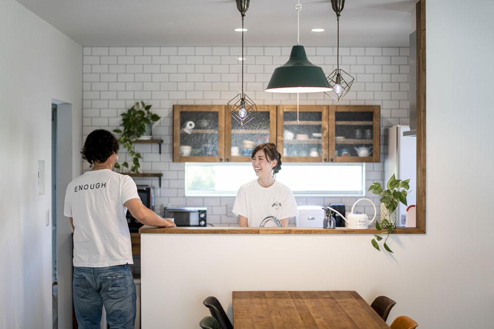 注文住宅 かっこいい工務店 熊本 ブレス ブレスホーム 施工例39 ナチュラルモダン キッチン&ダイニング