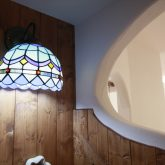 注文住宅 かっこいい工務店 古川工務店 施工例42 プロヴァンス 猫と共に生きるとっておきの家 こだわり ステンドグラス 照明