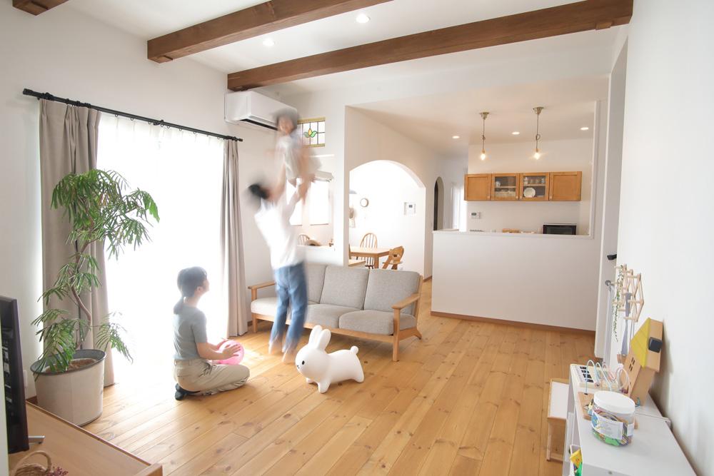 注文住宅 かっこいい工務店 熊本 ブレス ブレスホーム 施工例40 ナチュラルテイスト LDK