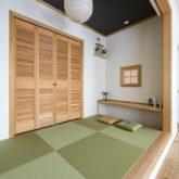 注文住宅 かっこいい工務店 福岡 不動産プラザ 施工例20 プロヴァンス 平屋 小上がり 和室