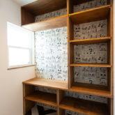 注文住宅 かっこいい工務店 山形県 福井建設 自由設計 施工例26 サンルーム 造作棚