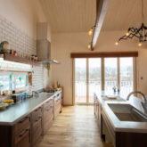 注文住宅 かっこいい工務店 山形県 福井建設 自由設計 施工例26 キッチン ウッドワン ステンレス 天板