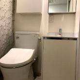 注文住宅 かっこいい工務店 東京 バークノア 施工例24 マンション ワンルーム リノベーション ミニキッチン トイレ