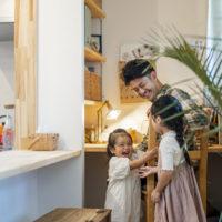 注文住宅 かっこいい工務店 熊本 ブレス 施工例43 アメリカン リビング ワークデスク