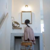 注文住宅 かっこいい工務店 熊本 ブレス 施工例43 アメリカン 2階ホール 造作洗面化粧台 2