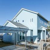 注文住宅 かっこいい工務店 熊本 ブレス 施工例43 アメリカン 外観 ラップサイディング