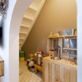 注文住宅 かっこいい工務店 熊本 ブレス 施工例43 アメリカン 階段下 秘密基地 遊び場