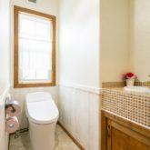 注文住宅 かっこいい工務店 福岡 不動産プラザ 施工例22 プロヴァンス トイレ