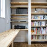 注文住宅 かっこいい工務店 熊本 ブレス ブレスホーム 施工例43 ナチュラル ユニバーサルデザイン 造作 ワークデスク