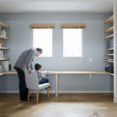 注文住宅 かっこいい工務店 熊本 ブレス ブレスホーム 施工例43 ナチュラル ユニバーサルデザイン 造作 ワークデスク 2