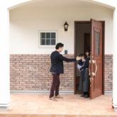 注文住宅 かっこいい工務店 熊本 ブレス ブレスホーム 施工例44 ナチュラル 玄関アプローチ