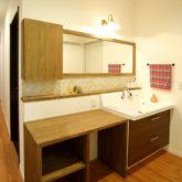 注文住宅 かっこいい工務店 熊本 ブレス ブレスホーム 施工例44 ナチュラル 造作 洗面化粧台