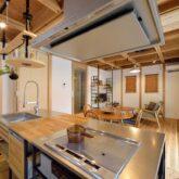 注文住宅 かっこいい工務店 京都府 福知山市 ADACHI住建 足立住建 おうち家さん 新築 施工例4 オープンキッチン2