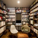 注文住宅 かっこいい工務店 熊本 ブレス ブレスホーム 施工例45 プロヴァンス 書斎 造作 本棚