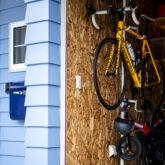 注文住宅 かっこいい工務店 熊本 ブレス 施工例46 アメリカン 趣味 自転車置き場 インテリア